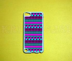 iPod Touch 5 Case, Pink and turquoise Aztec Pattern iPod touch 5 Cases, iPod touch 5G Cover,Case for iPod touch 5