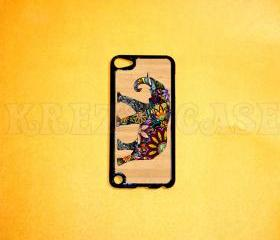 iPod Touch 5 Case, Elephant on wood print iPod touch 5 Cases, iPod touch 5G Cover,Case for iPod touch 5