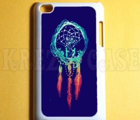 Ipod Touch 4 Case - Dreamcatcher blue Ipod 4G Touch Case, 4th Gen Ipod Touch Cases