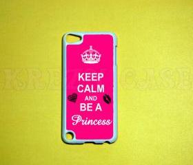 iPod Touch 5 Case, Keep calm and be a princess iPod touch 5 Cases, iPod touch 5G Cover,Case for iPod touch 5