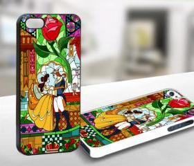 Beauty and The Beast Collor Rose Custom - AF039 - Iphone 4/4s Case Print On Hard Cover
