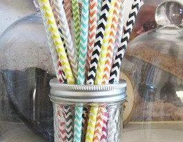 Chevron Paper Straws