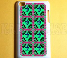 Ipod Touch 4 Case - Floral Damask pistachio color Ipod 4G Touch Case, 4th Gen Ipod Touch Cases