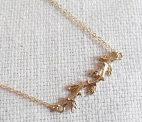 Gold Branch Necklace, 14kt Gold Filled Necklace, Gift for Her