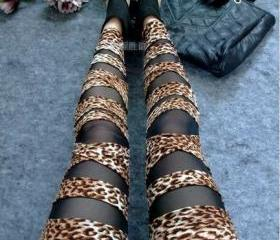 Leopard Sexy Punk Stripes Style Leggings