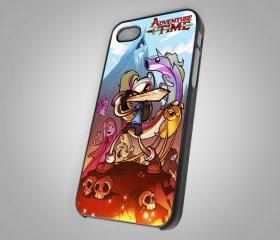 For iPhone 4/4S - Adventure Time Artwork Finn And Jake War Sword - on Hard Case