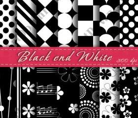 Black and White Digital Scrapbooking Paper Cardmaking Digital Background Printable Digital Downloads Scrapbooking Paper