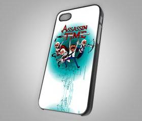 For iPhone 4/4S - Adventure Time Assassin's Creed 3 American Style Game - on Hard Case