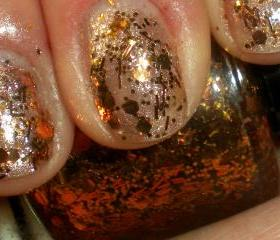Nail Polish - PENNY CANDY - Copper - Hand Blended Glitter Nail Polish - Nail Lacquer - 0.5 oz Full Sized Bottle