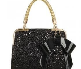 Fashion bow sequins hundred pro-mobile diagonal handbag