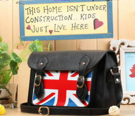 The American flag pattern shoulder postman retro woman bag