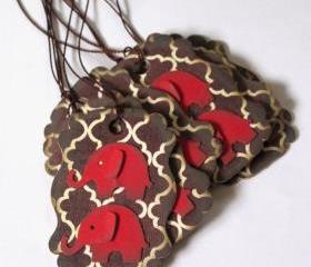 Brown Elephant Tags