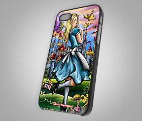 For iPhone 4/4S - Alice in Wonderland - on Hard Case