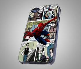 For iPhone 4/4S - Amazing Spiderman Vintage Comic - on Hard Case