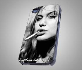 For iPhone 4/4S - Angelina Jolie - on Hard Case