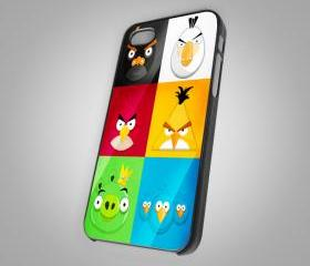 For iPhone 4/4S - Angry Birds Face Custom - on Hard Case