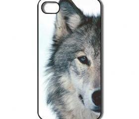 Wolf iPhone 4 /4s / 5 Case / Cover. Silicone Rubber / Hard Plastic