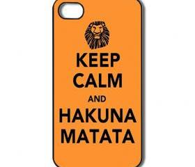 Hakuna Matata iPhone 4 /4s / 5 Case / Cover. Silicone Rubber / Hard Plastic