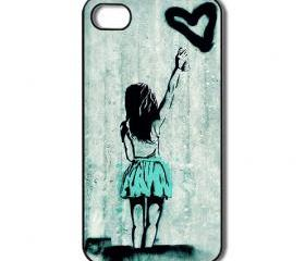 Graffiti girls heart. iPhone 4 /4s / 5 Case / Cover. Silicone Rubber / Hard Plastic