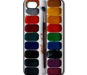Water color palette iPhone 4 /4s / 5 Case / Cover. Silicone Rubber / Hard Plastic