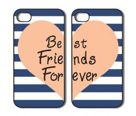 Friends forever. Two iPhone 4 /4s / 5 Cases / Covers. Silicone Rubber / Hard Plastic