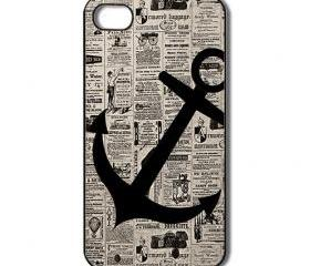 Anchor iPhone 4 /4s / 5 Case / Cover. Silicone Rubber / Hard Plastic 