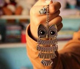 Vintage Fashion Owl Pendant Necklace