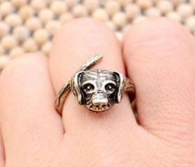 vintage Cute Dog Ring