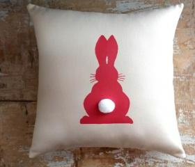 Easter Pillow, Bunny Pillow, Easter Decor, Cottage Decor