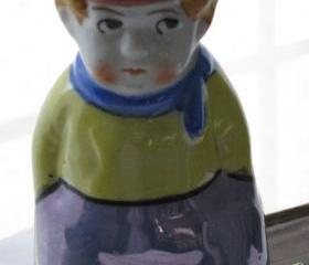 Muffineer Sugar Shaker Figural Boy Vintage Kitchen Collectible