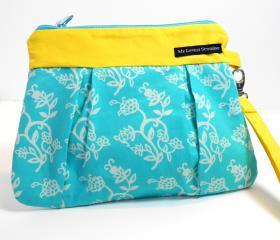 Wristlet / Clutch / Purse / Bag - Sun and Sky