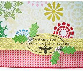 Wishing you a joyous holiday season handmade card