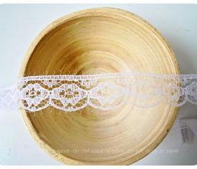 White scallop lace #002