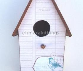 "cardboard birdhouse "" bird stamp """
