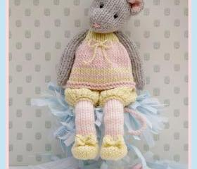 MJT Little Gems 1 'Tearoom Mice' Pdf/ Email Toy Knitting Pattern NEW