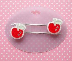 Cute Apple Hair Clips