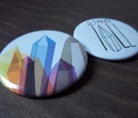 Mytes Pin 2 Pack - 2 1/4 Inch Buttons