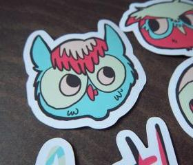 Backyard Owls Sticker Pack - 4 Stickers