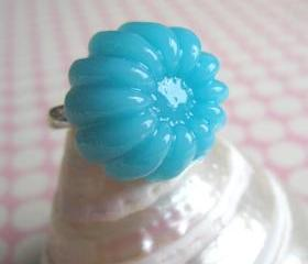 Blue Jelly Pudding Ring