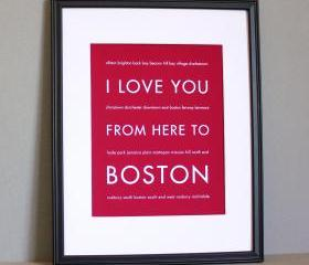 Boston Art Print , 8x10