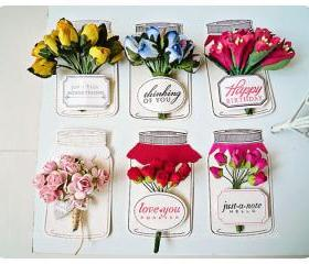 Flower in a bottle tags