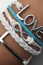 Silver Cross Infinity Love Bracelet