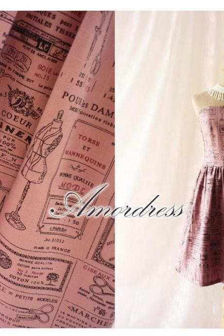 The Dressmaker Dress Beautiful Vintage Inspired Dress in Purple Strapless Dress