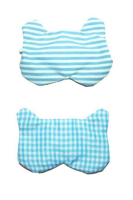 Bear Sleep Mask - Striped/Gingham