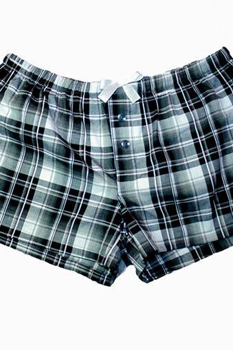 Boxers for Women Tartan - S/M Sleep Shorts