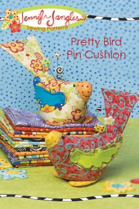 New Pretty Bird Pin Cushion Pattern by Jennifer Jangles