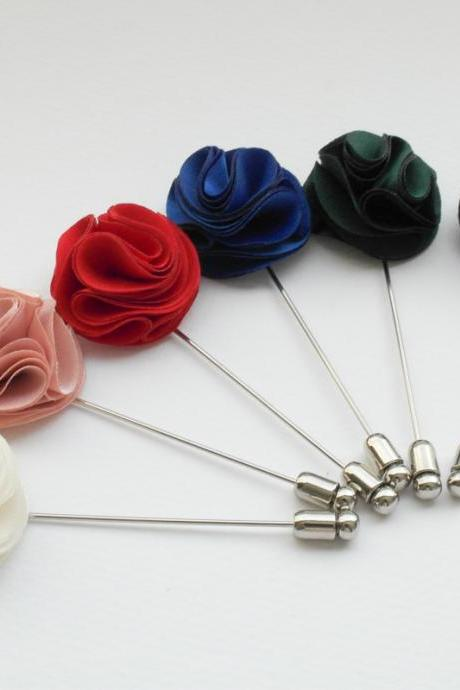 Pom Pom Pink Men's Flower Boutonniere / Buttonhole For Wedding,Lapel Pin,Tie Pin