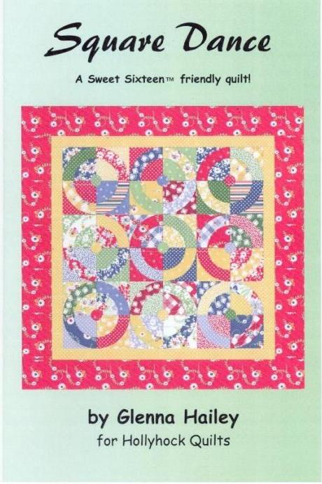 SQUARE DANCE QUILT PATTERN BY GLENNA HAILEY MAKES A BRIGHT AND FUN LITTLE QUILT