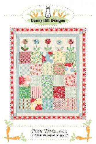 POSY TIME CHARM QUILT PATTERN FROM BUNNY HILL DESIGNS