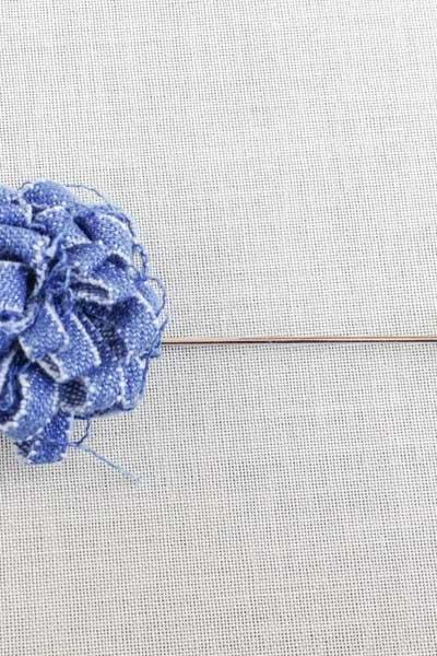 DENIM Blossom Blue Men's flower Boutonniere/Buttonhole for wedding,Lapel pin,hat pin,tie pin